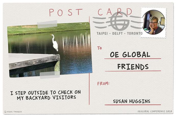 step away postcard