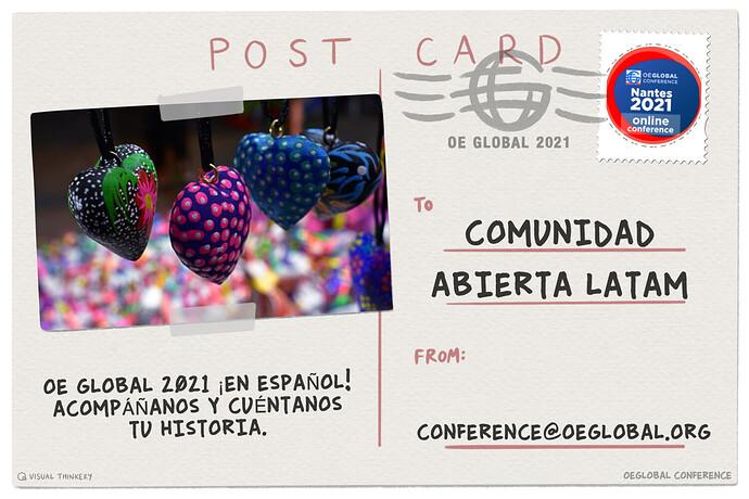 OEGlobal Postcard